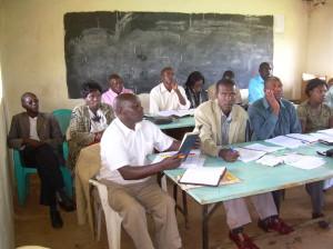 Class at Eldoret, Kenya Study Center 2012